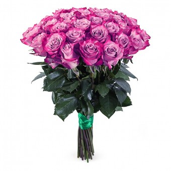 Букет Роз Дип Пёрпл 35 шт.