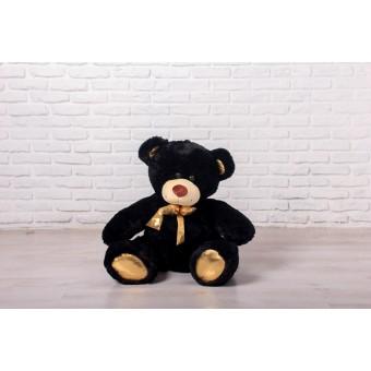 Мишка Оскар черный, 110см (бант золотой)