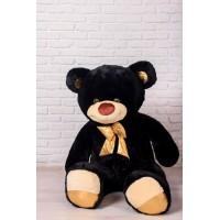 Мишка Оскар черный, 170см (бант золотой)