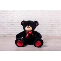 Мишка Оскар черный, 110см (бант красный)