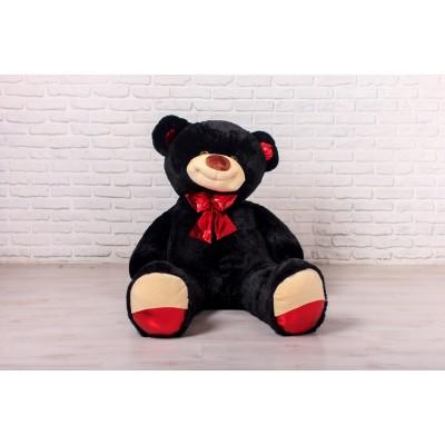 Мишка Оскар черный, 170см (бант красный)